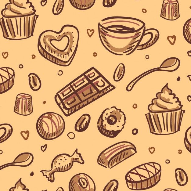banner free library Desserts background free graphic. Vector coffee breakfast