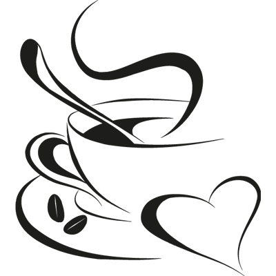 clipart black and white stock Taza caf