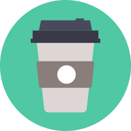 clipart free Coffee Takeaway Icon Flat