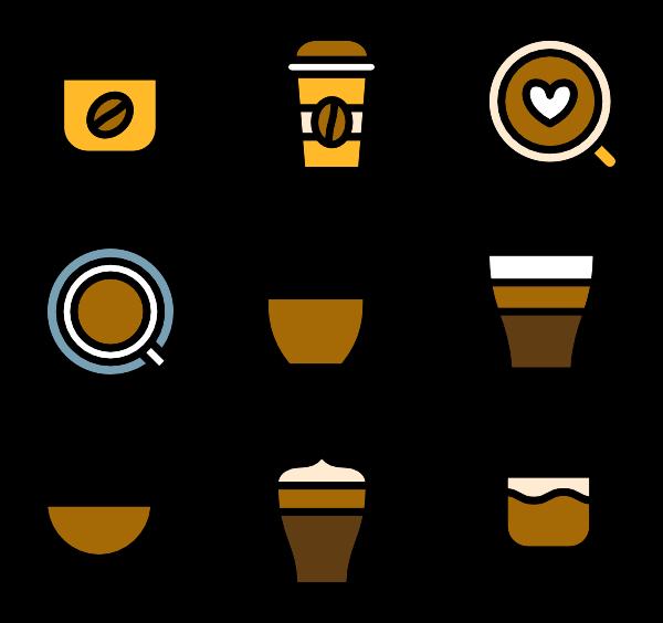 clip art royalty free  tea packs svg. Vector coffee icon