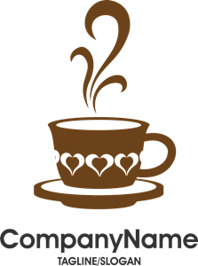 graphic freeuse library Cafe day logo cdr. Vector coffee creative