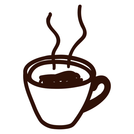graphic library download Cup icon transparent png. Vector coffee hand drawn