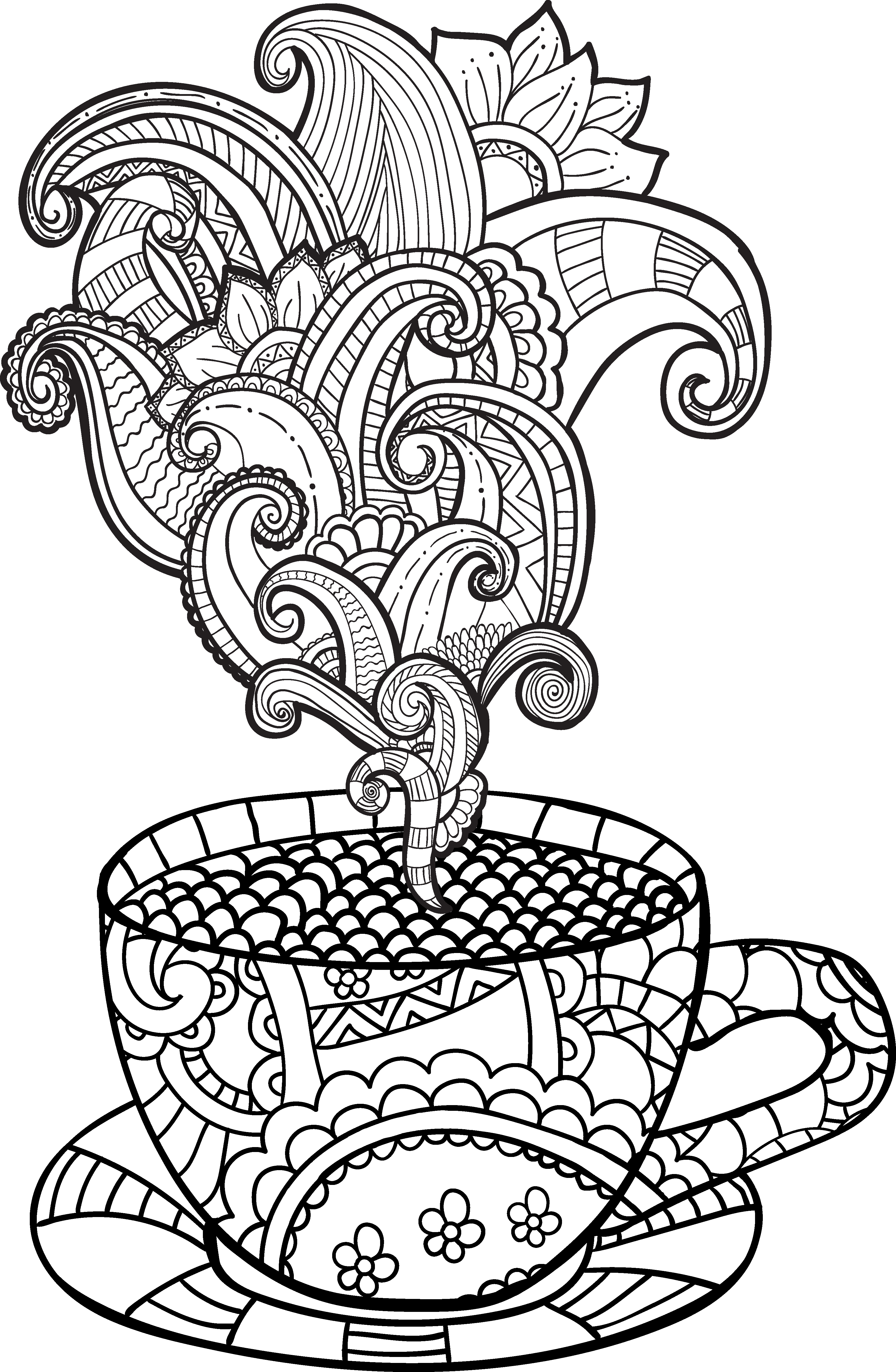 png black and white library Art drawing at getdrawings. Vector coffee tea cup