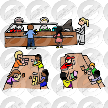 vector freeuse stock Picture for classroom therapy. Cafeteria clipart