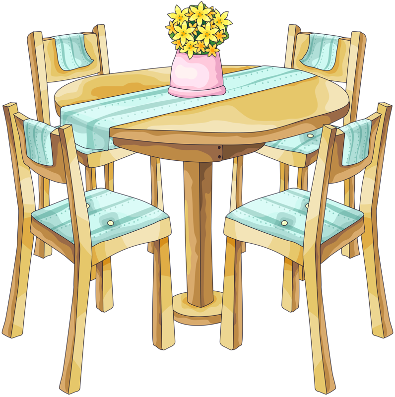 freeuse library dining table clipart #67775659