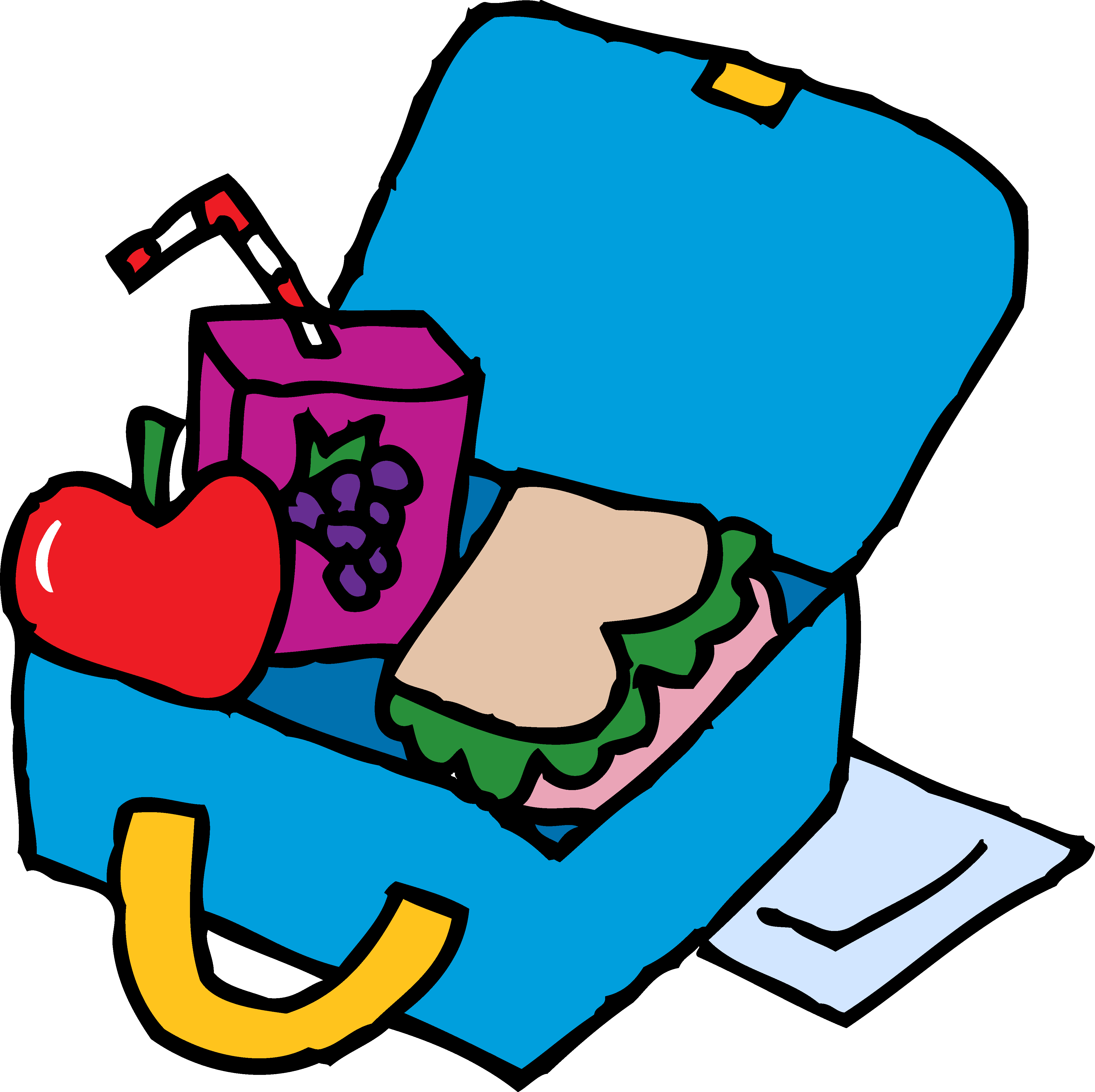 image royalty free library Lunchbox clipart. Snack lunchtime free on.