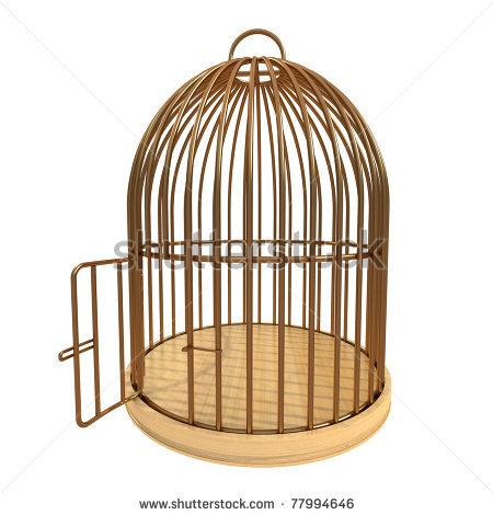 vector library library Cage clipart.  bird clip art.
