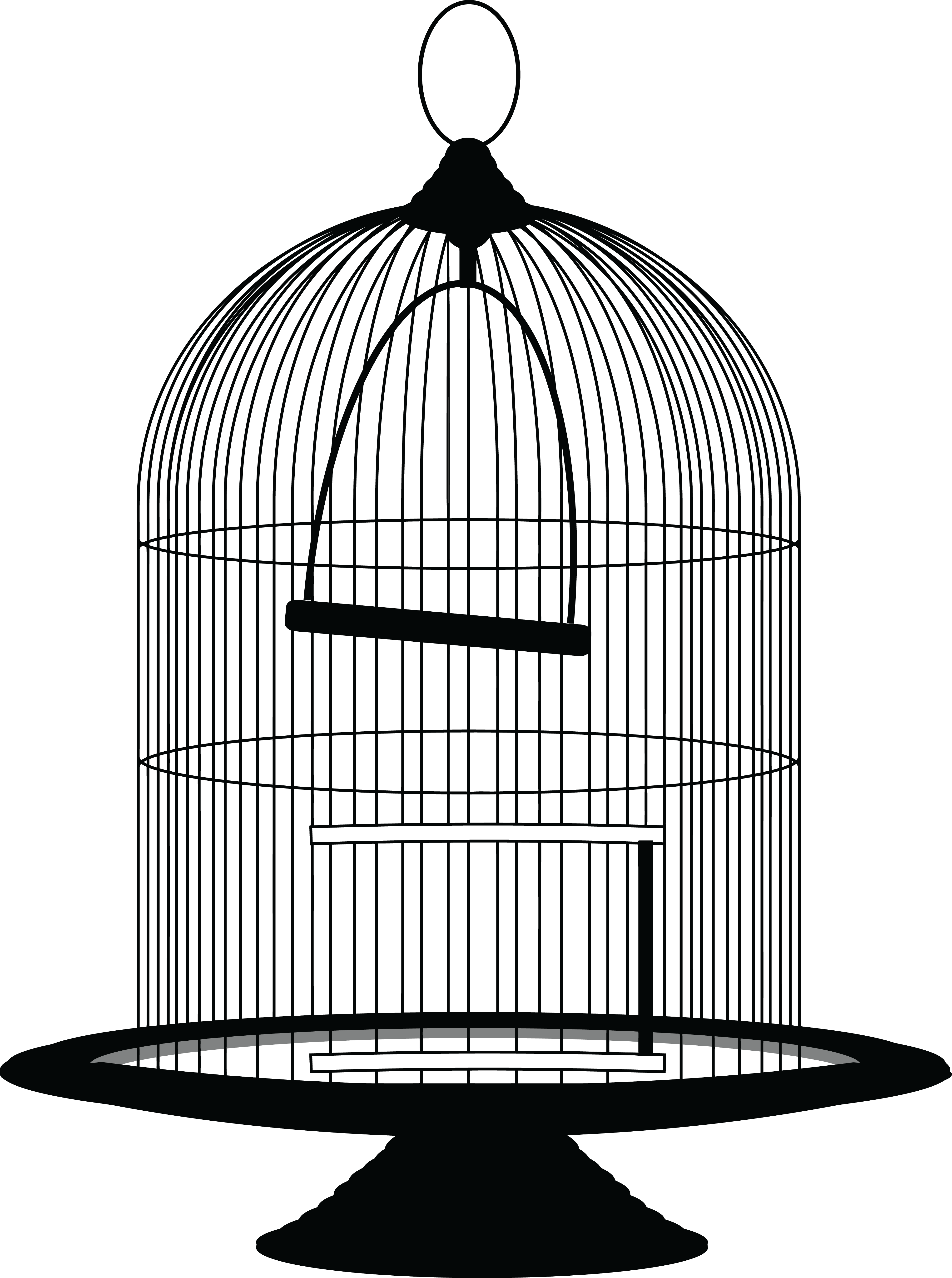 jpg transparent Of a bird in. Cage clipart.
