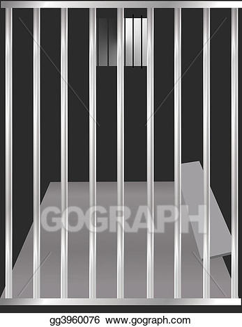graphic transparent library Cage clipart jail cell. Stock illustration gg gograph.