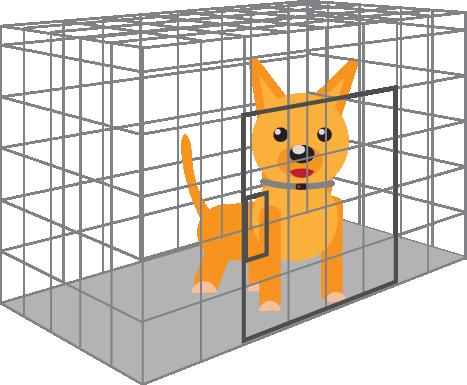 transparent download Cage Clipart dog