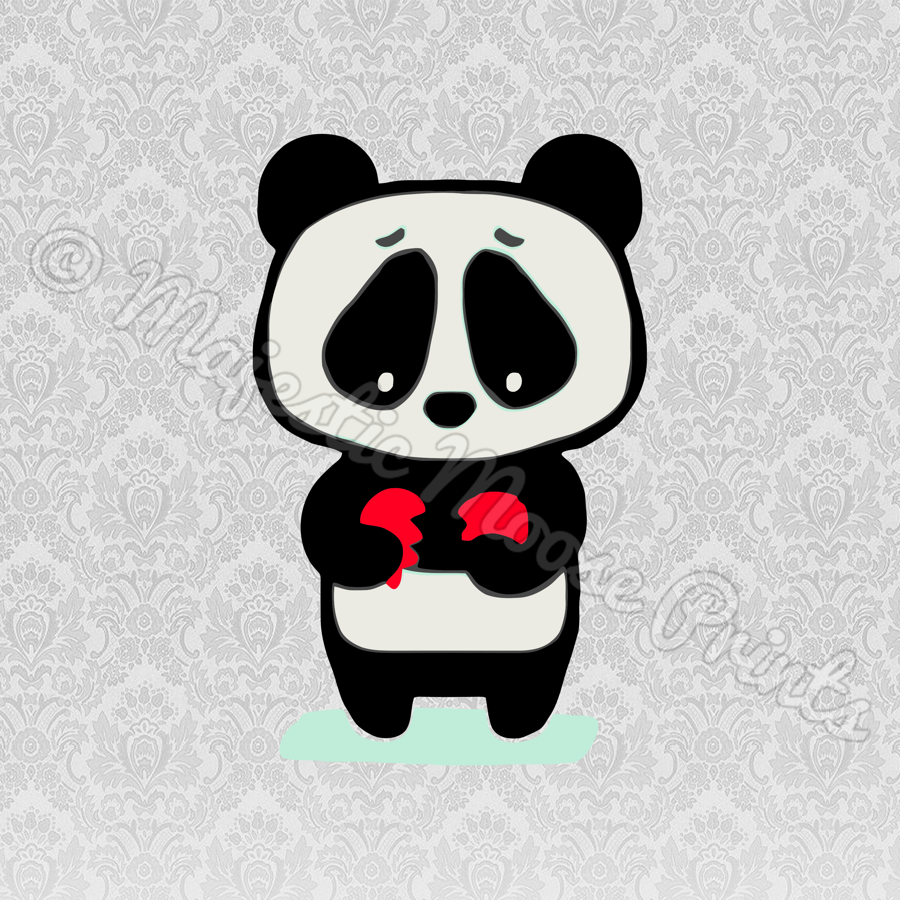 clipart library stock Panda svg cut file. Cage clipart sad.