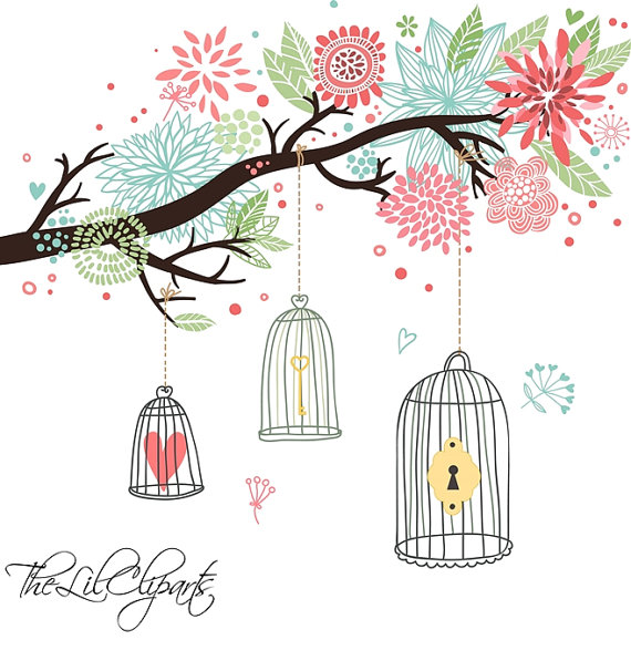vector stock Transparent free for . Cage clipart wedding.
