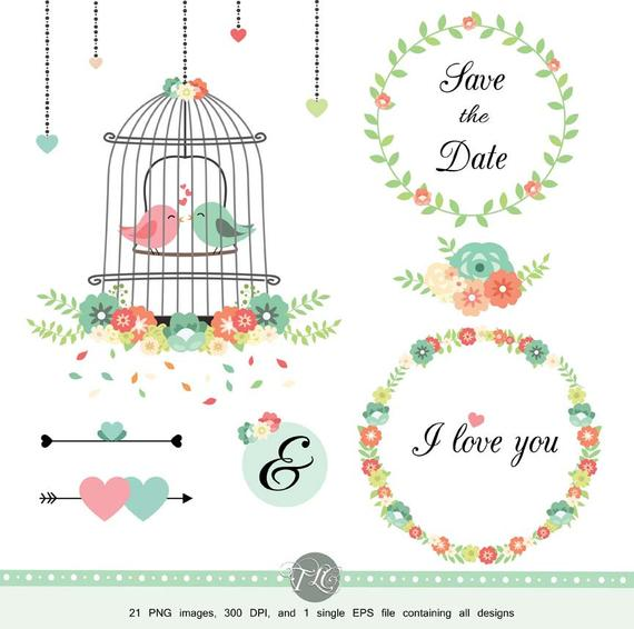 clip art library download Cage clipart wedding. Flower scrapbook flowers vector.