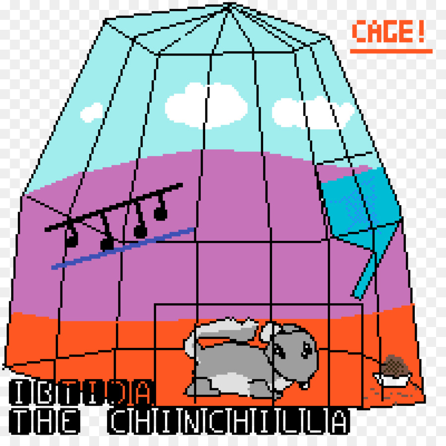 graphic transparent library Clip art image chinchilla. Cage drawing pixel