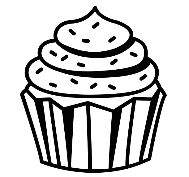 clip art library Cakes PNG Black And White Transparent Cakes Black And White