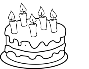 jpg transparent download Birthday . Cake clipart black and white.