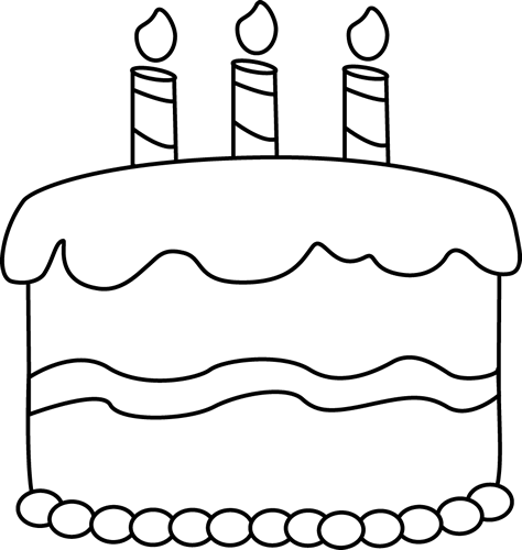 royalty free download Birthday clip art frames. Cupcake outline clipart black and white
