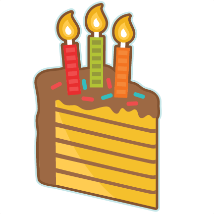 clip transparent library Cake clipart silhouette. Piece of birthday svg.