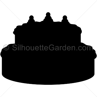 jpg library stock Cake clipart silhouette. At getdrawings com free.