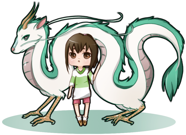 banner black and white stock Calcifer drawing spirited away. Dragon haku and chihiro