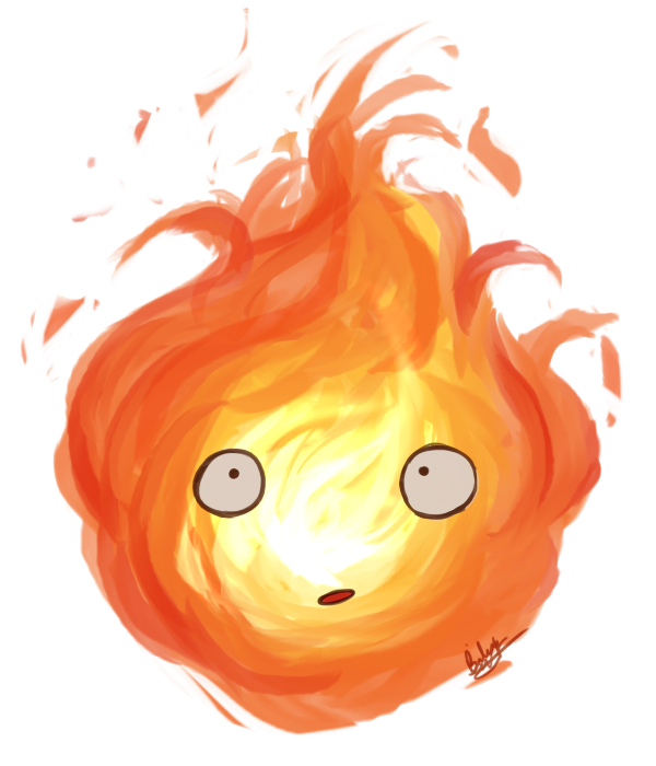 image free download By blackdiamond on deviantart. Calcifer drawing