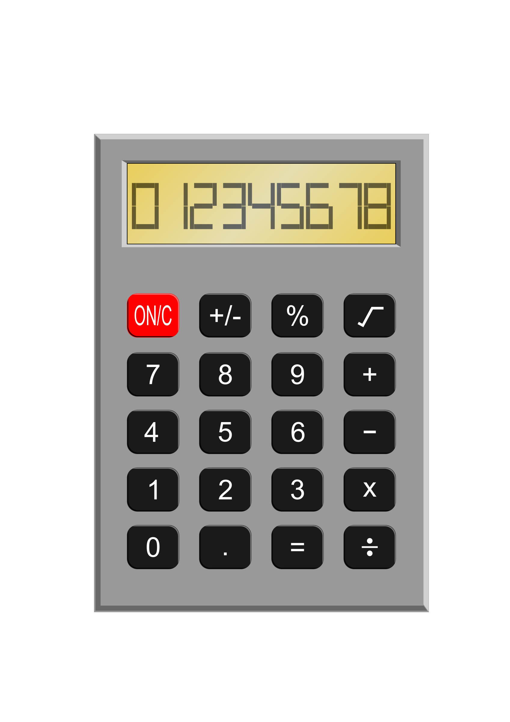 image royalty free library Calculator clipart. Old