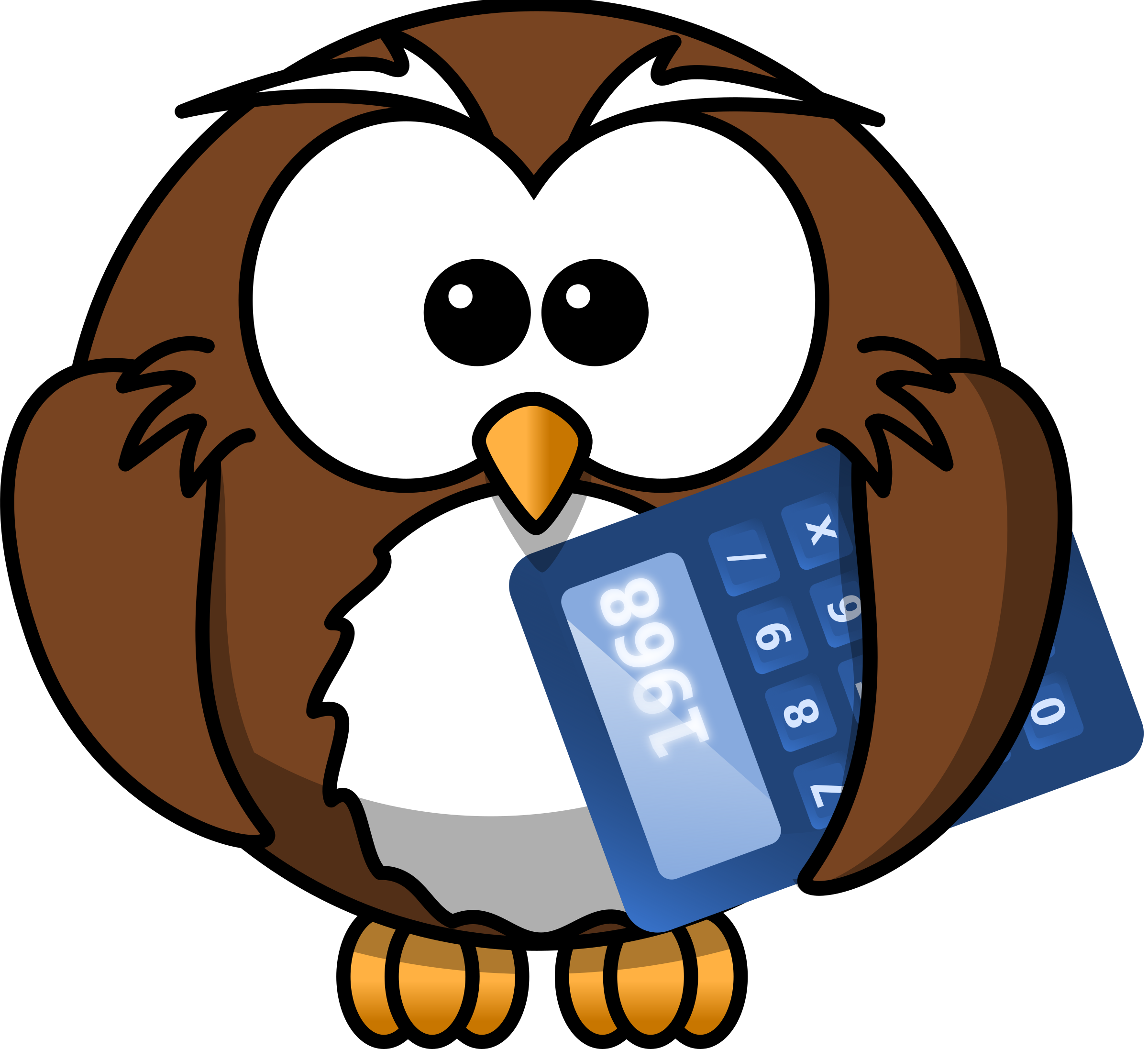 clip art transparent Owl with icons png. Calculator clipart financial calculator.