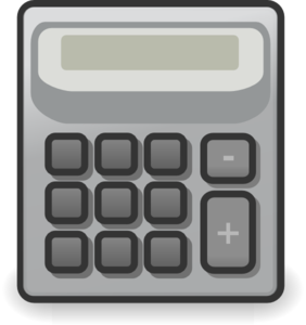vector black and white stock Clip art at clker. Calculator clipart small