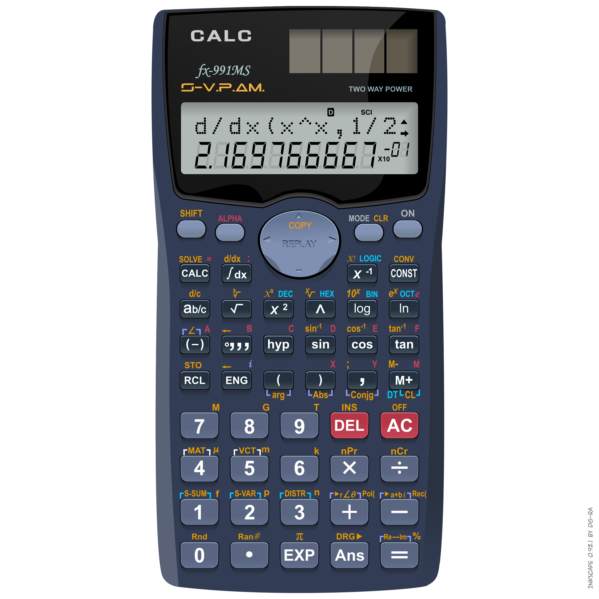 image royalty free library Calc fx ms big. Calculator clipart small