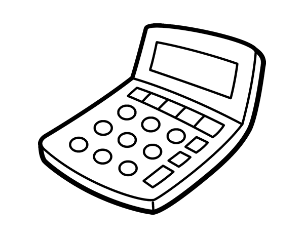 clip art freeuse download Solar calculator coloring page