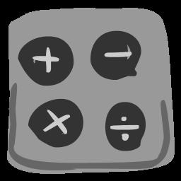 image black and white download Calculator Icon