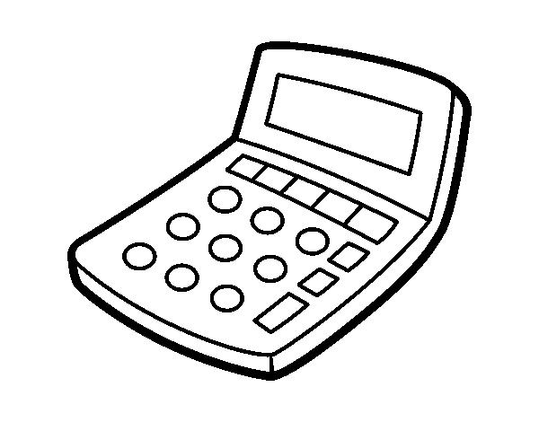 clip art transparent Solar calculator coloring page
