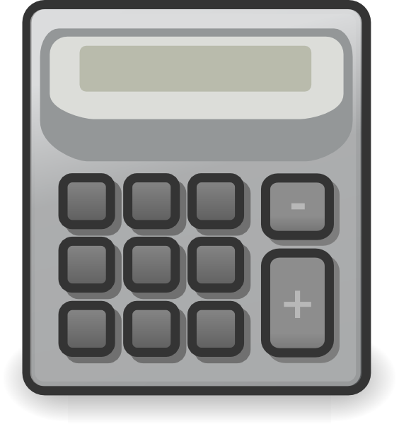 svg freeuse download  clipart outline for. Vector calculation calculator