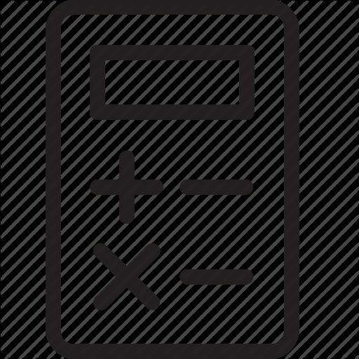 picture calculator transparent thin #110285947