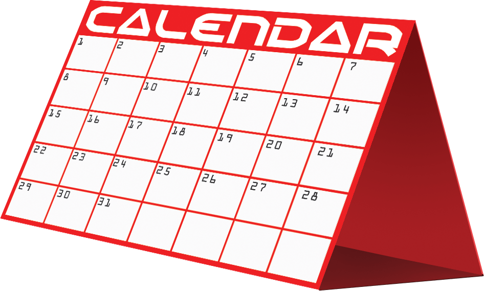 banner transparent Calendar clipart. Printable yearly clipartion clipartix
