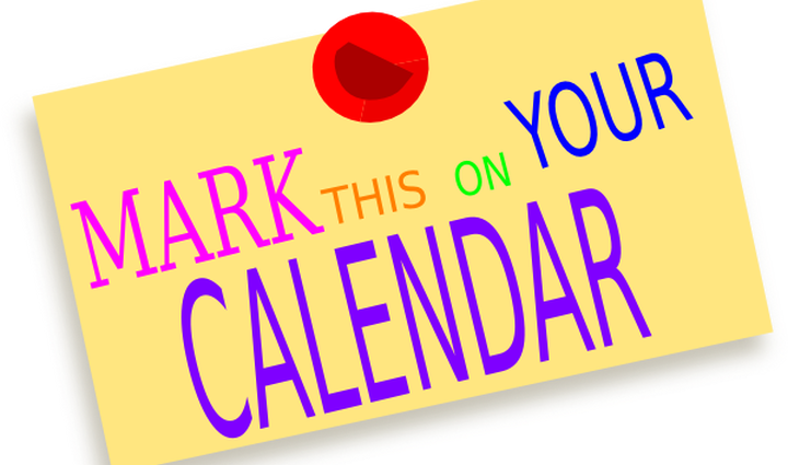 graphic black and white Mark your home medford. Calendar clipart.