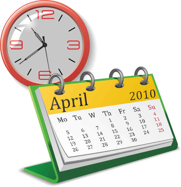 jpg transparent download Calendar clipart. Clock and clip art