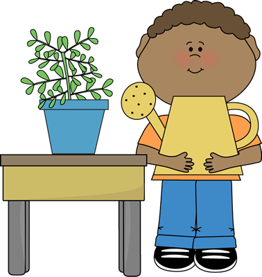 picture royalty free Boy classroom plant clip. Calendar clipart helper.