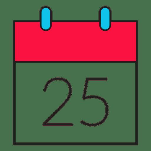 clip art freeuse download Christmas day calendar cartoon icon