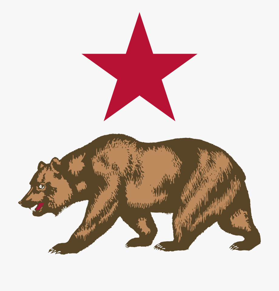 clip library library Star and symbol free. California bear clipart