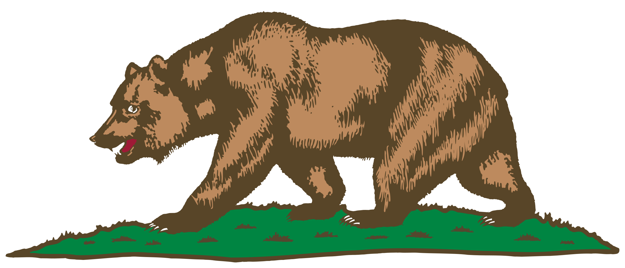 vector library Flag of and plot. California bear clipart