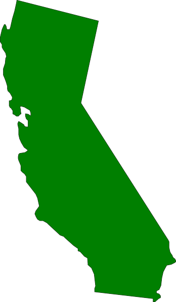 clip royalty free Green state clip art. California clipart.
