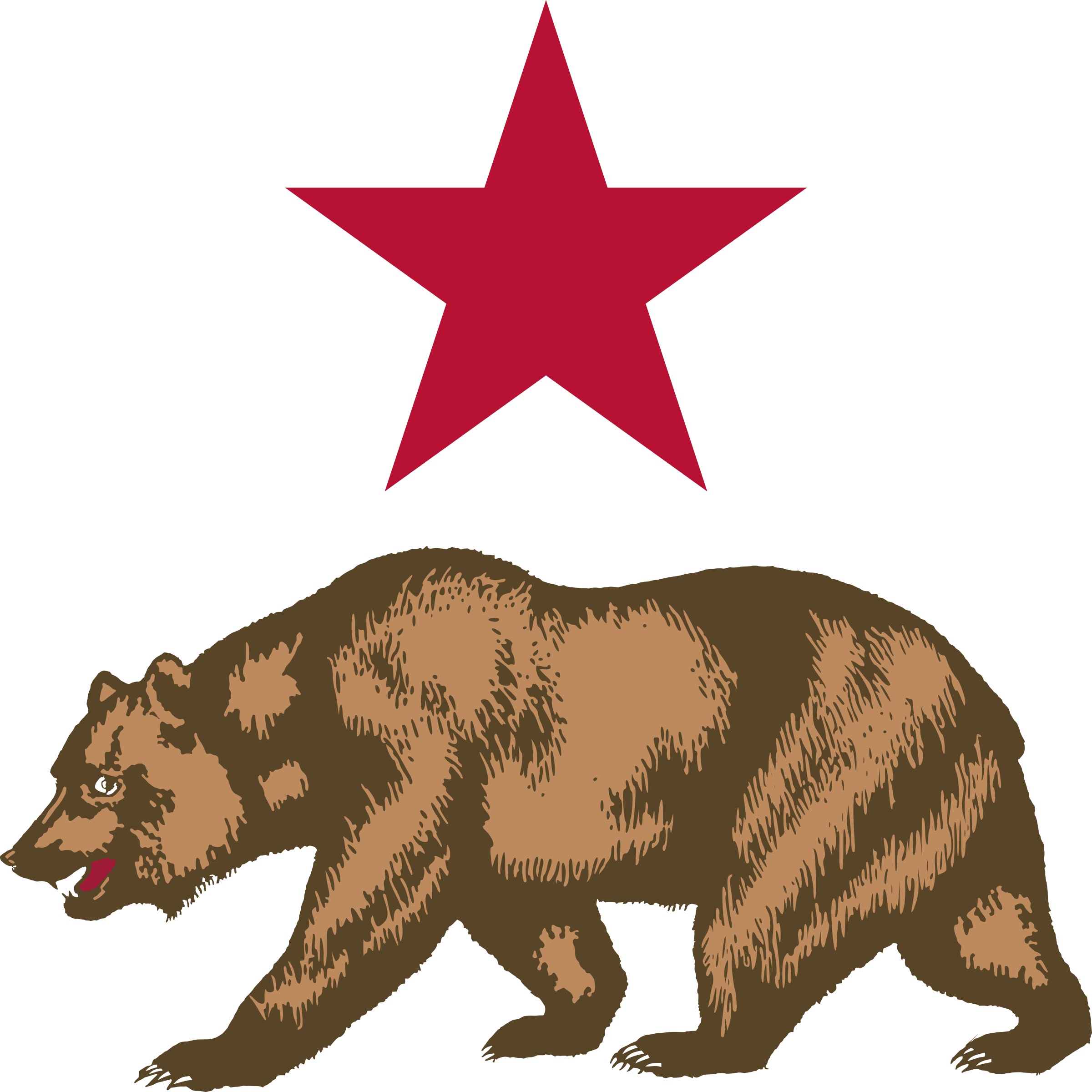 image library download California bear clipart. Star and icons png