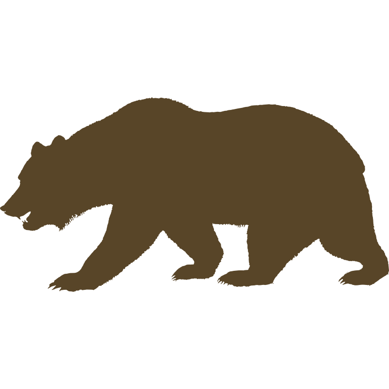 svg transparent download Outline print outs pinterest. California clipart bear grizzly california.