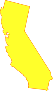 graphic transparent download Yellow clip art at. California clipart drawing.