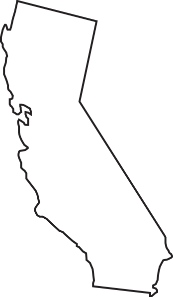 clipart royalty free library Outline clip art google. California clipart drawing.