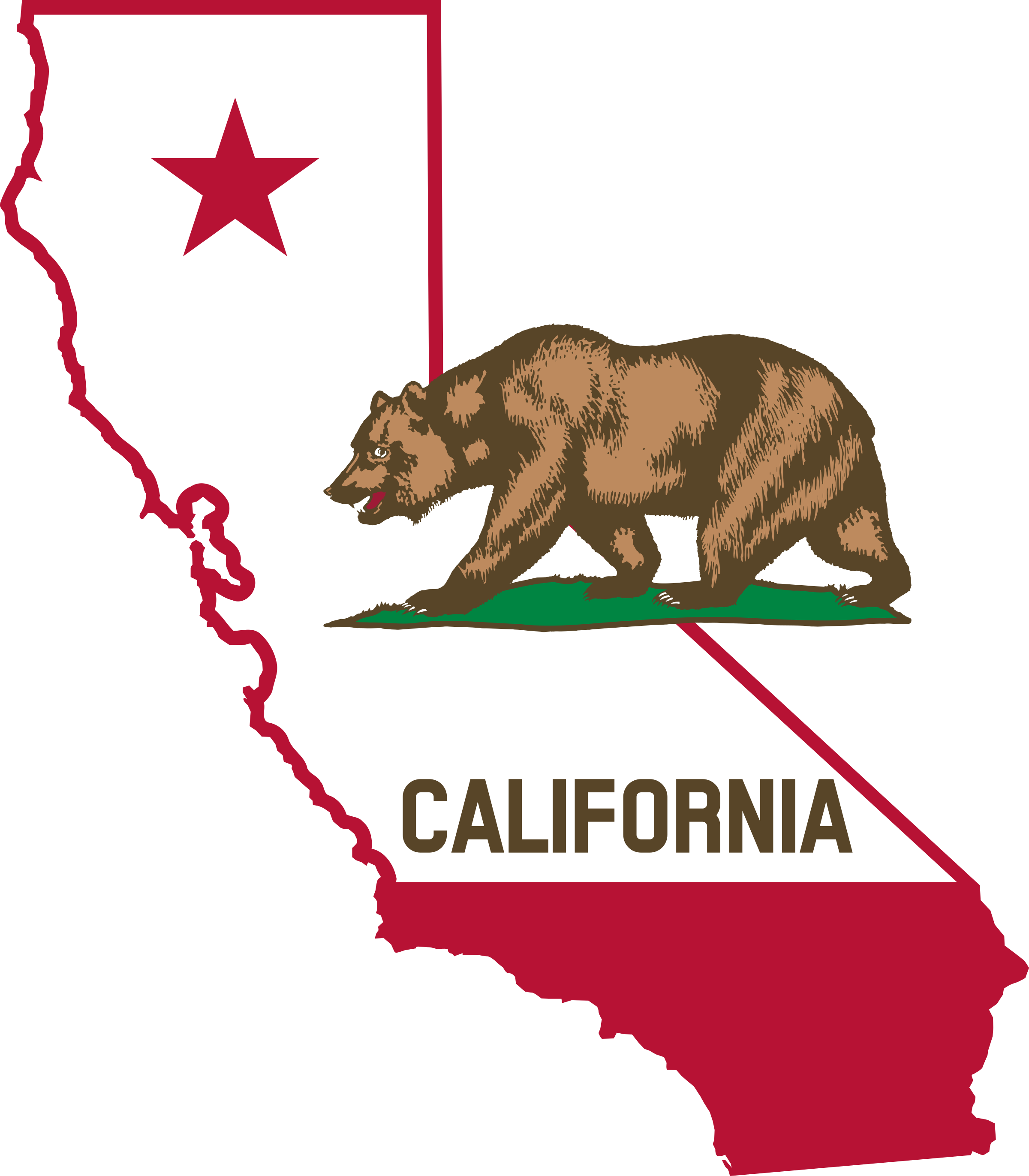 jpg library library California clipart state. Outline and flag big.