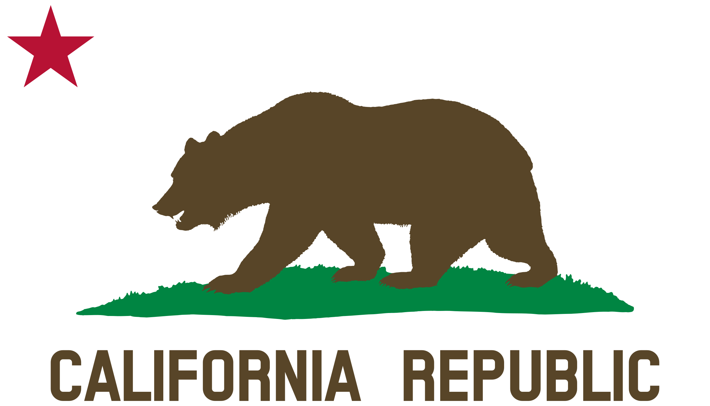 vector free download Flag of star plot. California bear clipart