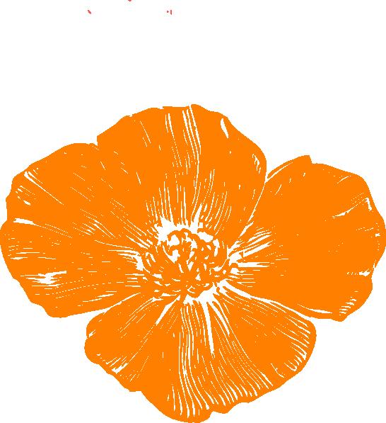 banner library Poppy vector. Orange clip art at.
