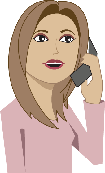 svg free download Woman On Phone Clipart